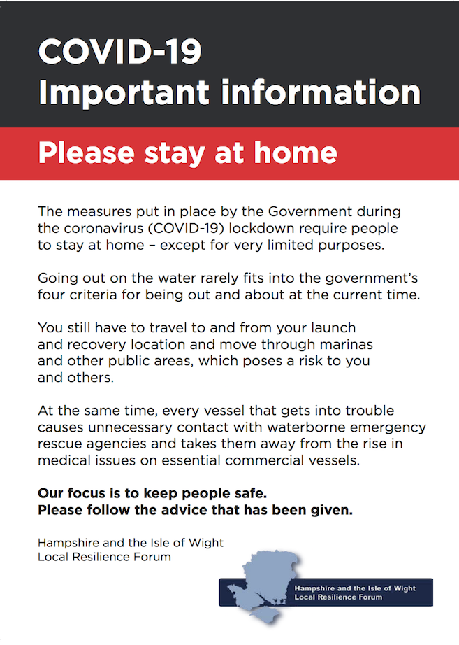 Hampshire and Isle of Wight Local Resilience Forum - Stay at Home Leaflet