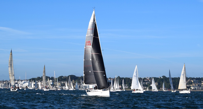 Round the Island Race 2015 start area