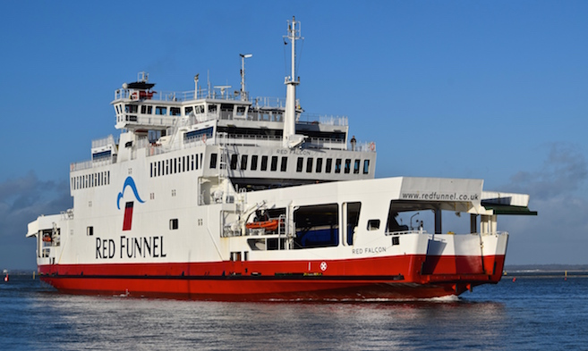 Ferries and Shipping in Cowes Harbour, Isle of Wight
