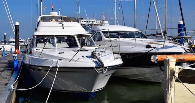 Motorboats at Shepards Wharf Marina