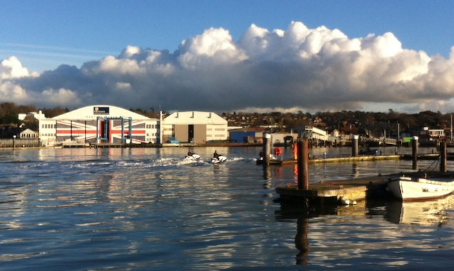Personal Watercraft jet skiers in Cowes Harbour by Hamo Thornycroft