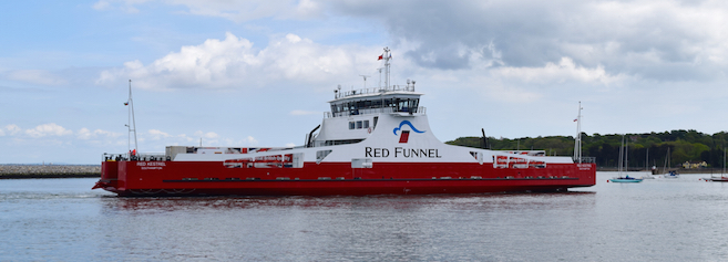 Red Funnel freight ferry