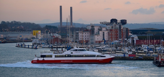 Red Jet in Cowes Harbour