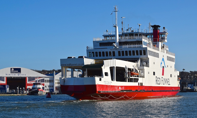 Red Funnel Ferry Services in Cowes Harbour