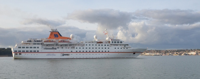 Cruise ship Hanseatic off Cowes