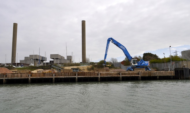 Kingston Aggregate Wharf in East Cowes