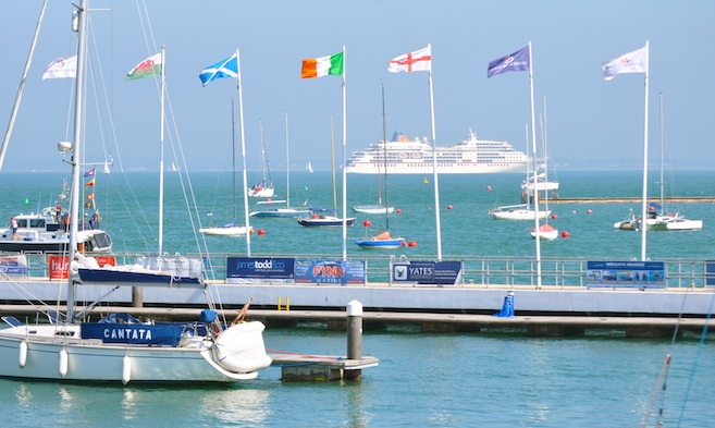 Cruise Visits cruise ship MS Europa off Cowes