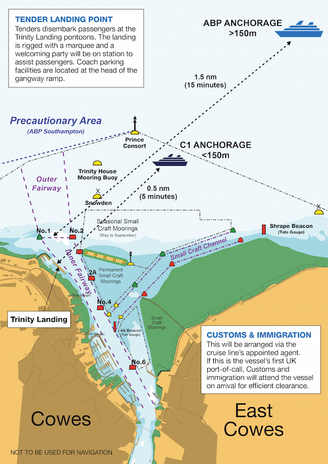 Cruise to Cowes anchorage diagram