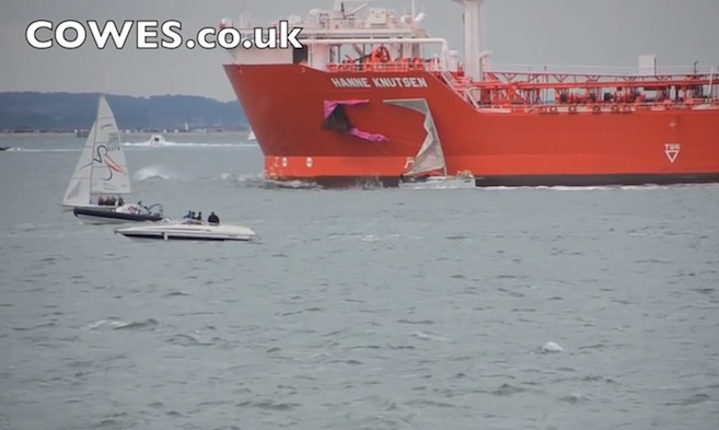 Accident and Incident Reporting - Yacht and tanker collision Cowes Week 2011