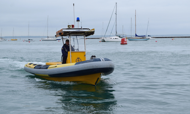 Harbour Patrol in Cowes Harbour