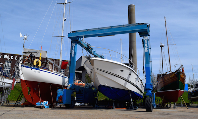 Kingston Marine Boatyard in East Cowes on the Isle of Wight