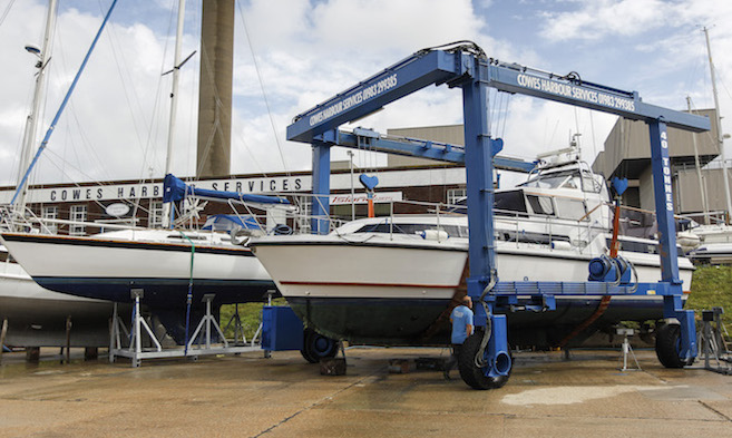 Lifting and Storage at Cowes Harbour Services Boatyard
