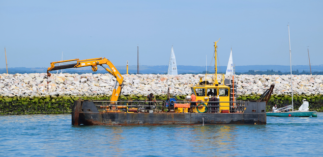 Seaclear at work by the Cowes Breakwater