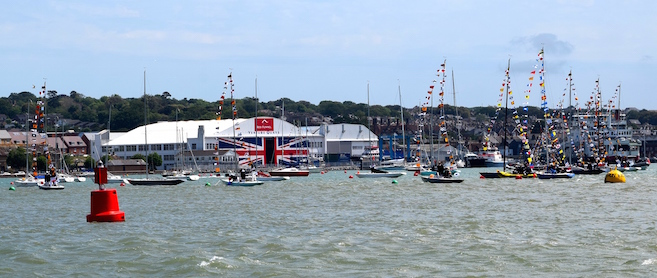 RYS Fleet Review 2015 - Main harbour moorings laid by KMS