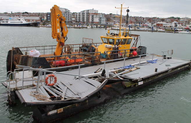 Remediation of Trinity Landing after collision damage
