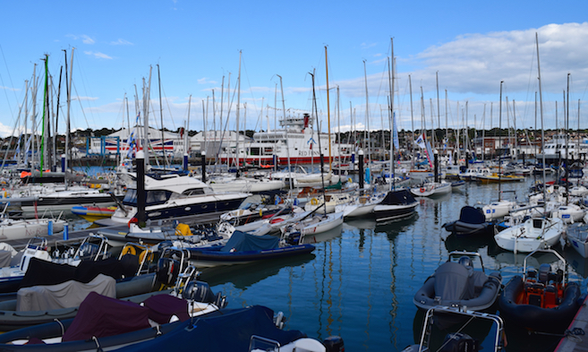 Cowes Week Berthing at Shepards Wharf Marina in Cowes on the Isle of Wight