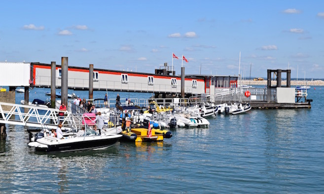 Town Quay at Cowes Harbour on the Isle of Wight