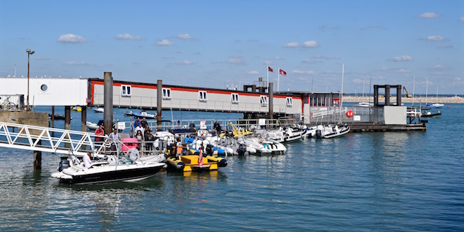 Town Quay in Cowes Harbour