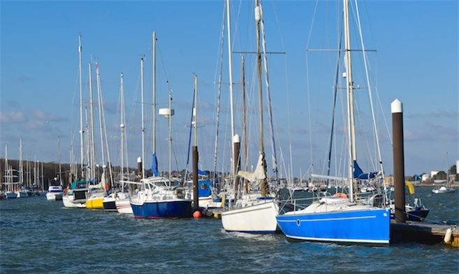 Annual Moorings in Cowes Harbour on the Isle of Wight