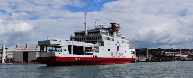 Red Funnel vehicle ferry at East Cowes