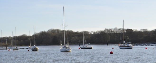 Folly Reach swinging moorings