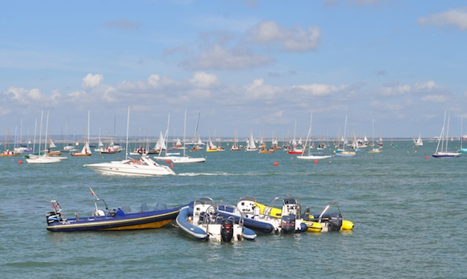 Day Class Event Moorings in Cowes Harbour