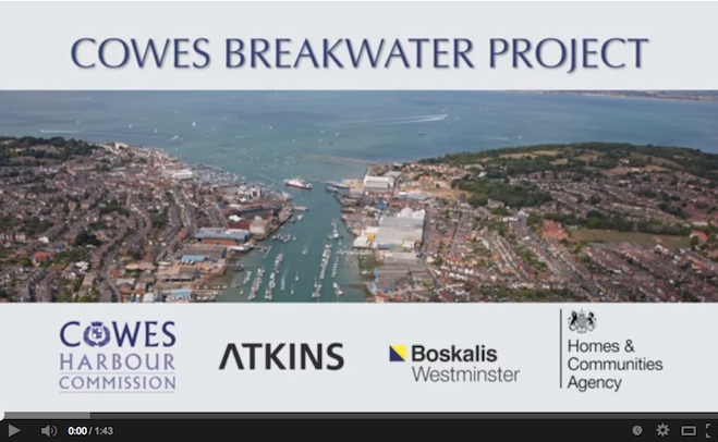 Cowes Breakwater Project video