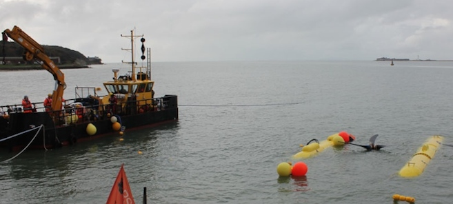 KMS's Seaclear vessel at the SME PLAT-O deployment