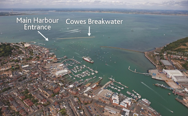 Cowes Breakwater on The H20 Show