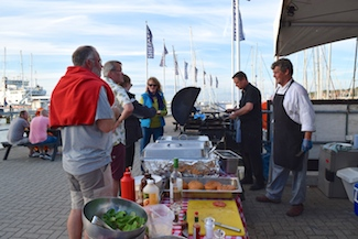 Barbecue on the pier at Shepards Wharf - RTI 2015