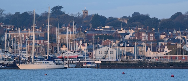 Cowes Harbour on the Isle of Wight