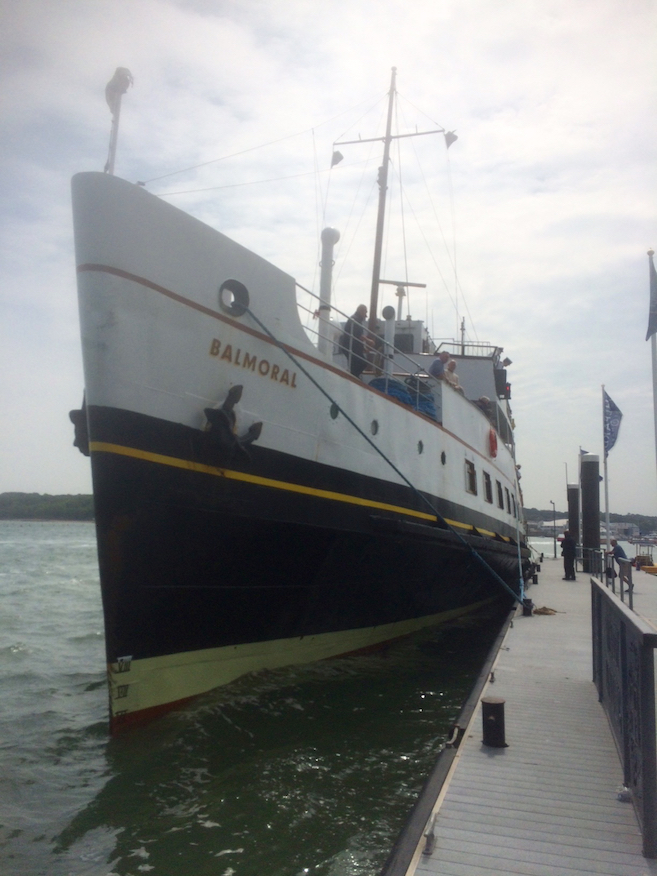 MV Balmoral moored at Trinity Landing on Friday 10th June