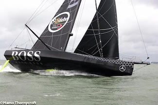 Alex Thomson training onboard Hugo Boss in the Solent Sept 2016 Credit Hamo Thornycroft