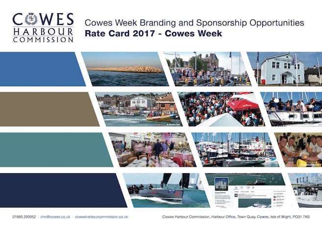 Cowes Week Non-Sponsors Rate Card 2017