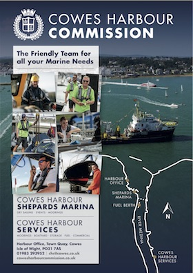 Cowes Harbour Commission advert
