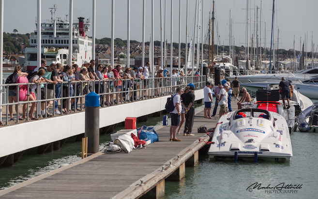 Powerboats at Cowes Yacht Haven - Photo Malc Attrill