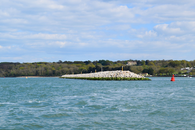View of Cowes Breakwater looking east