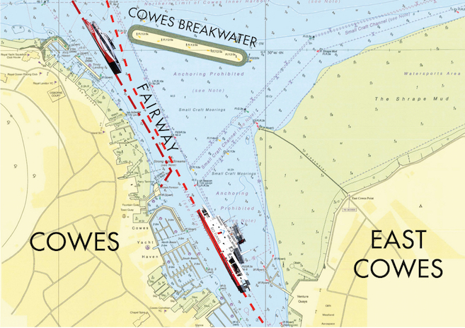 Cowes Breakwater usable area