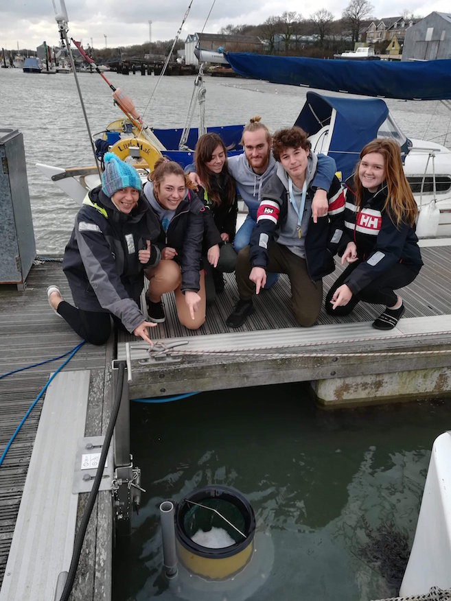 UKSA students with the new Seabin
