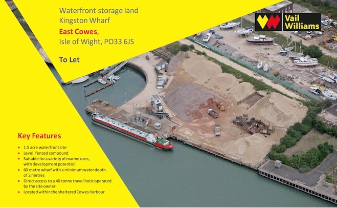 Waterfront storage land