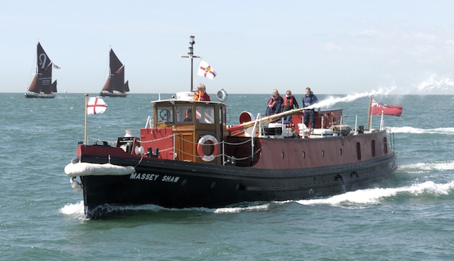 MASSEY SHAW - Fireboat. Built by J.S.White's of Cowes, delivered to the Thames 1935