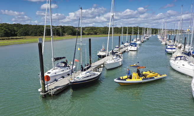 River moorings at Cowes Harbour